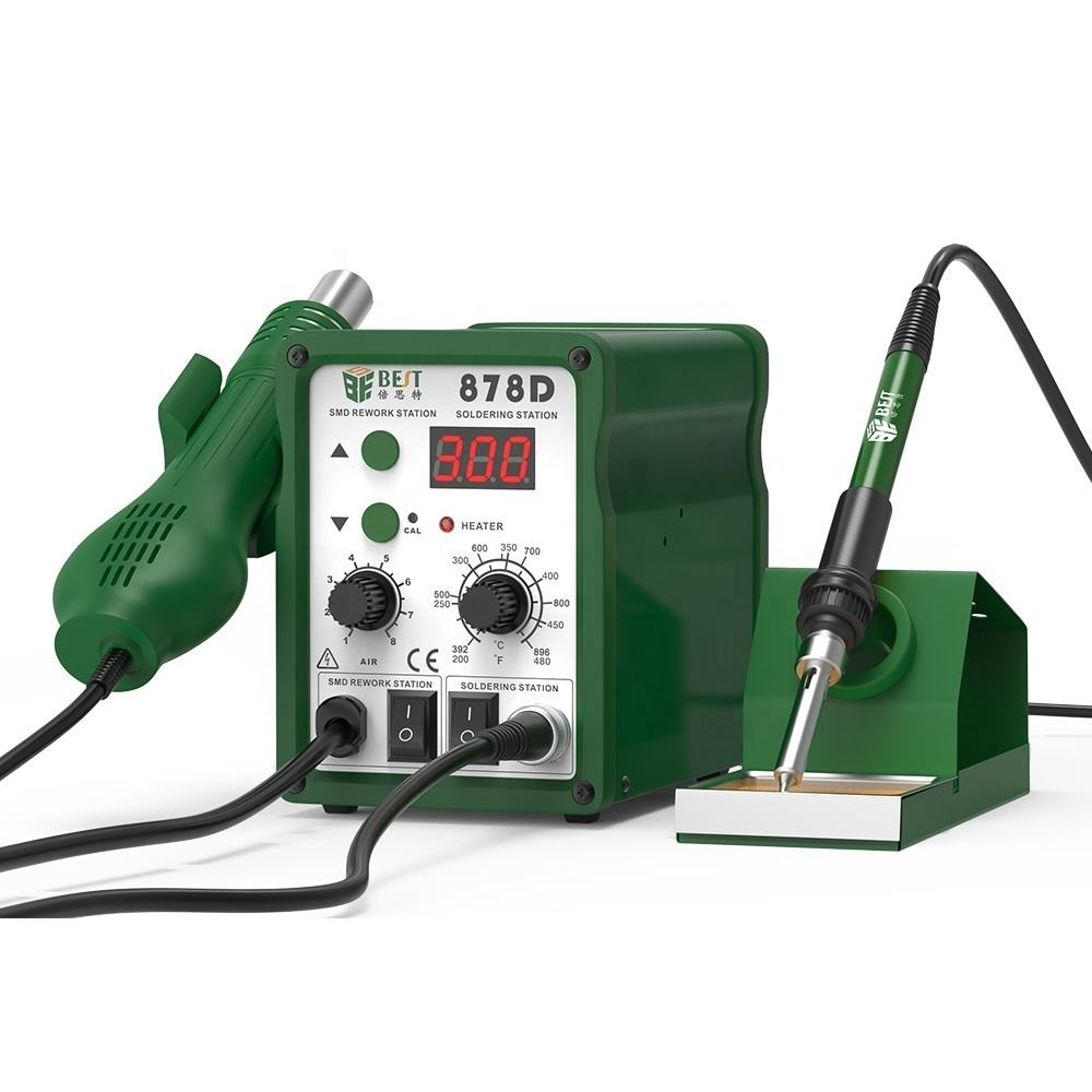 LONGWEI 936A Smd Electronic Soldering Rework Station Adjustable For Phone Repairing With 6 Pieces Soldering Iron Tips,1 Pieces Heating Element