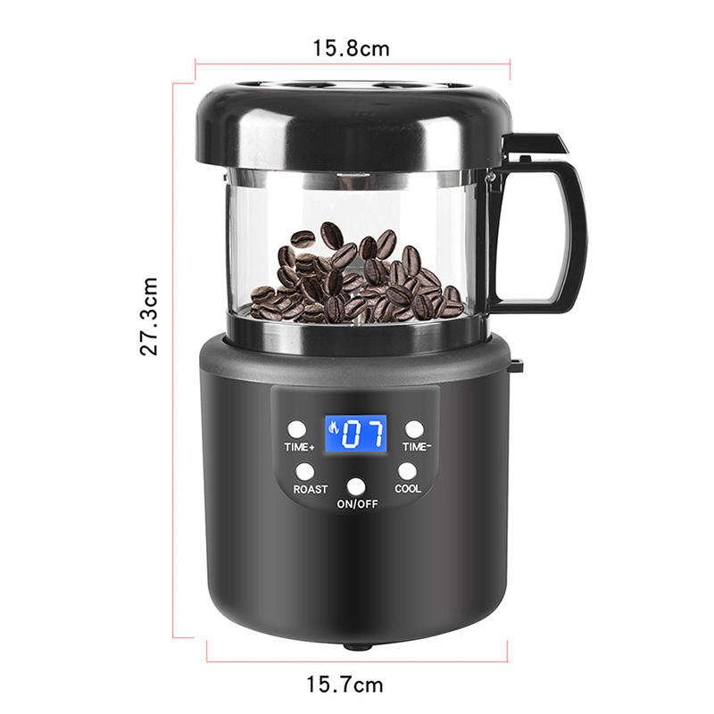 2021 Top Quality Coffee Roaster Ready To Ship New Arrival Small Automatic Cooling Hot Air Coffee Roaster