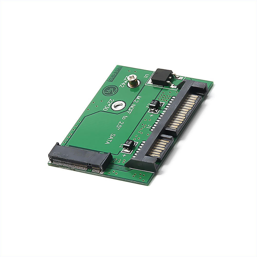 M.2 NGFF <span class=keywords><strong>SSD</strong></span> Carte Adaptateur 2.5in SATA3 NGFF à Moitié Size2.5 Convertisseur SATA Carte <span class=keywords><strong>Soutien</strong></span> 2242 <span class=keywords><strong>SSD</strong></span> Taille