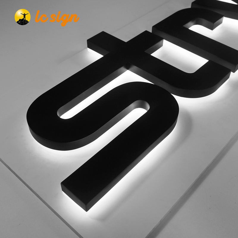 Custom 3d brief zeichen backlit kanal brief für werbung led logo brief