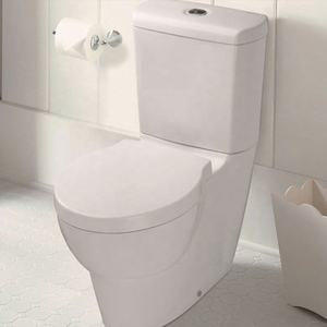 Siphonic Two Piece Toilet Modern Design Elongate White Color Commode Hot Sale For South America Wc Tube Ware Supplier toilet
