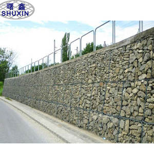 Woven Iron Wire Gabion Mesh Basket Retaining Wall Design With Stone Filled Gabion For Sale