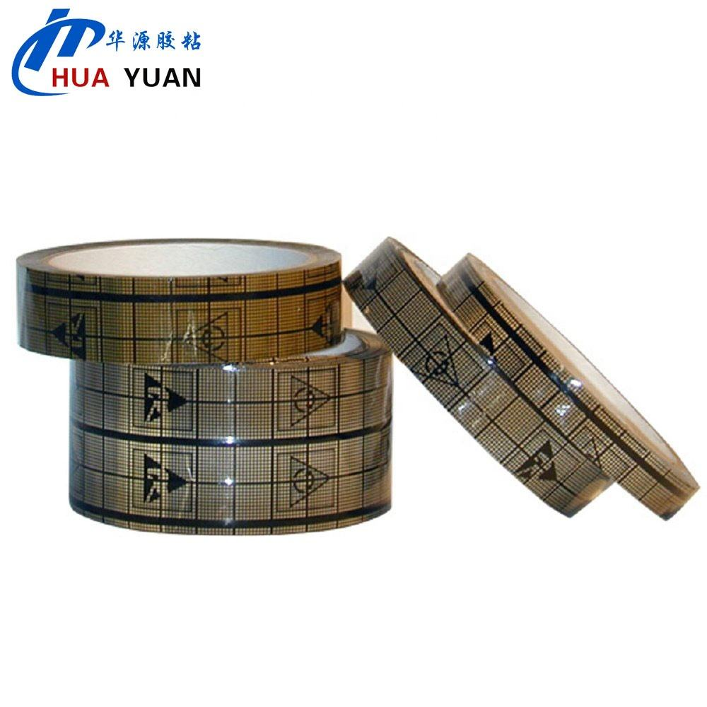 48Mm Antistatic Whiteboard Gridding Graphic Printing ESD Grid Opp Tape dengan Huayuan