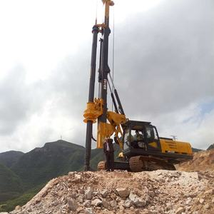 KR125C hydraulic rotary drilling rig with CAT chassis piling machine