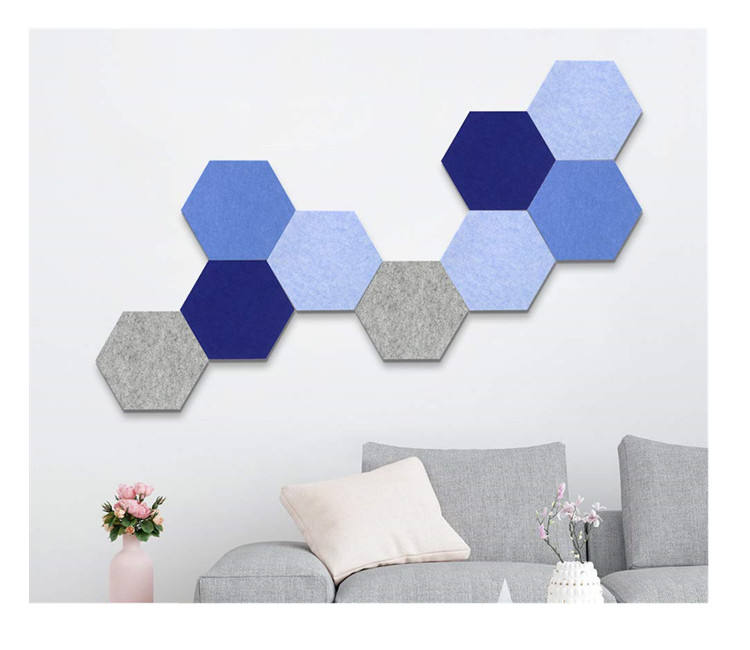 Wall Decor Sticker Photo Holder Hexagon Pin Board cork felt bulletin board