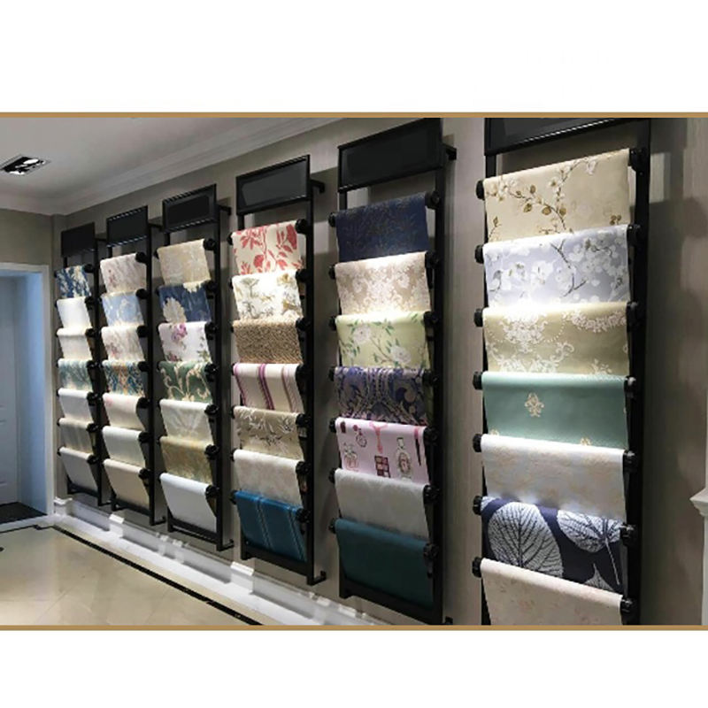 Good Quality Fabric Roll Display Stands Retail Fabric Display Rack