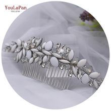 YouLaPan HP270 Delicate and Elegant Dripping Stone Hair Accessories for Wedding,Bridal Opal Rhinestone Hair Comb