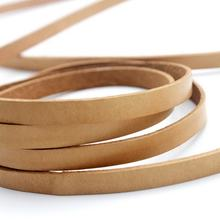 8mm Flat Tan Natural Jewelry Findings Accessories Diy Jewelry Leather Strip Cord