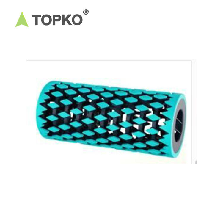 TOPKO wholesale new design custom print pilates massager for muscles collapsible foam roller