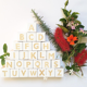 Wholesales Nordic style Wood Alphabet Letter Building Blocks Craft Early Learning Educational Toys Baby Room Decoration