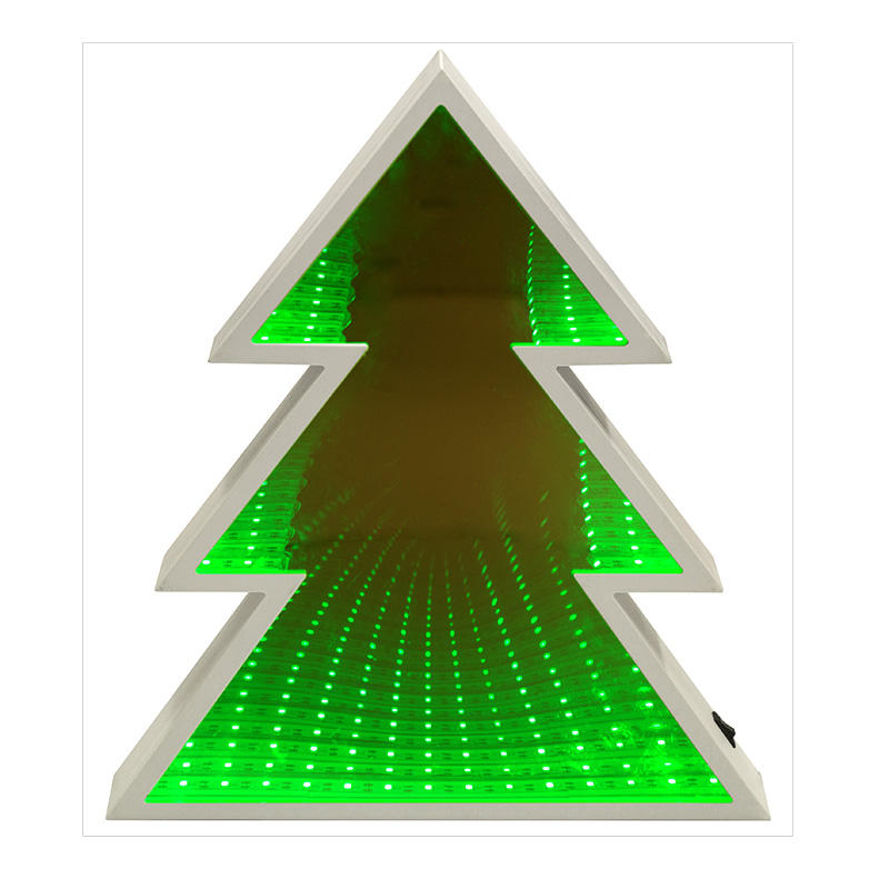 68L LED Green Christmas Tree Tunnel Infinity Mirror Light for Christmas Home Decoration