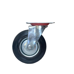 Wholesales 4 Inch Steel Core Industrial Swivel Caster With Black Rubber Wheel