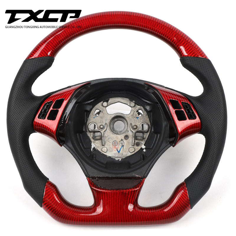 Custom Alcantara racing wheel For BM W 2009-2012 E90 E91 E92 E93 carbon fiber steering wheel convertible