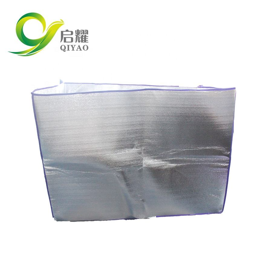 Gealuminiseerd folie EPE schuim naaien thermische warmte isolatie bubble naaien side seal pallet cover thermische pallet cover
