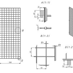 Wire mesh shelf metal display