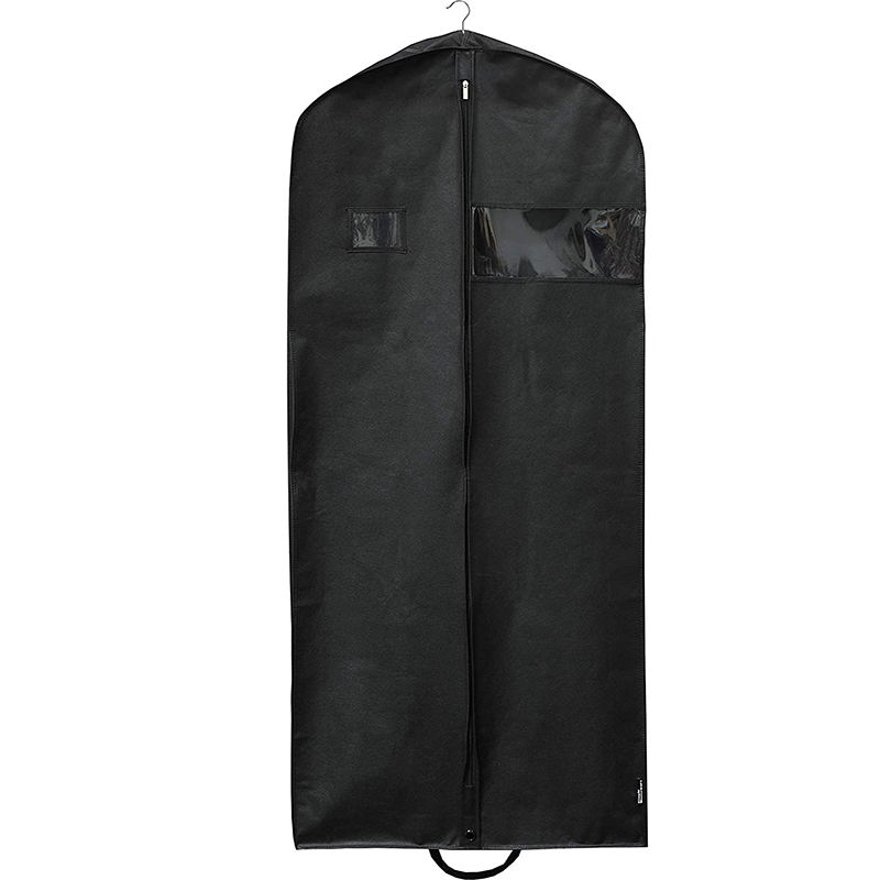 High quality luxury customized black non woven suit garment bag