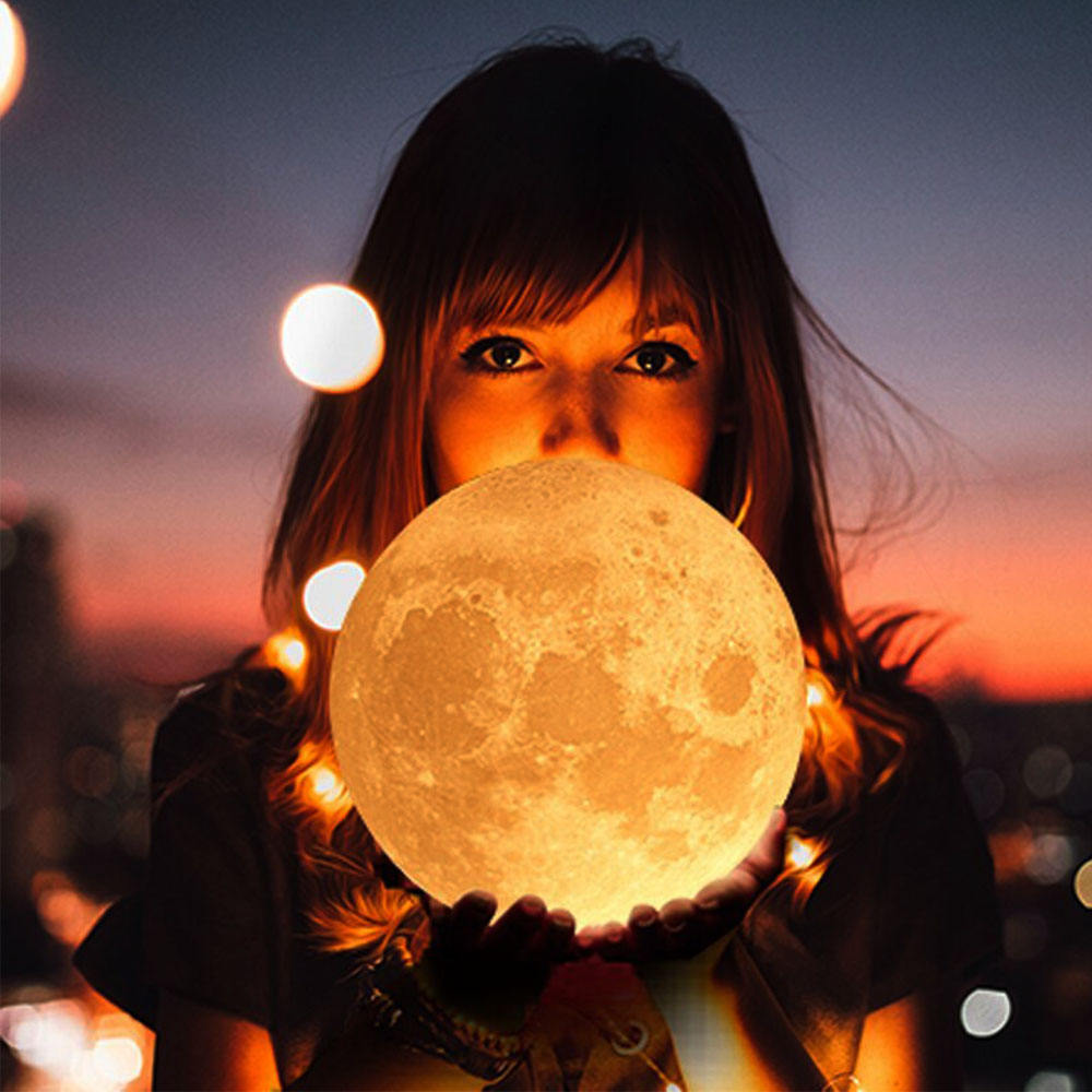 Indoor decoration floating moon lamp USB Charge for kids room toy 3d print moon night light children gift 3d moon lamp