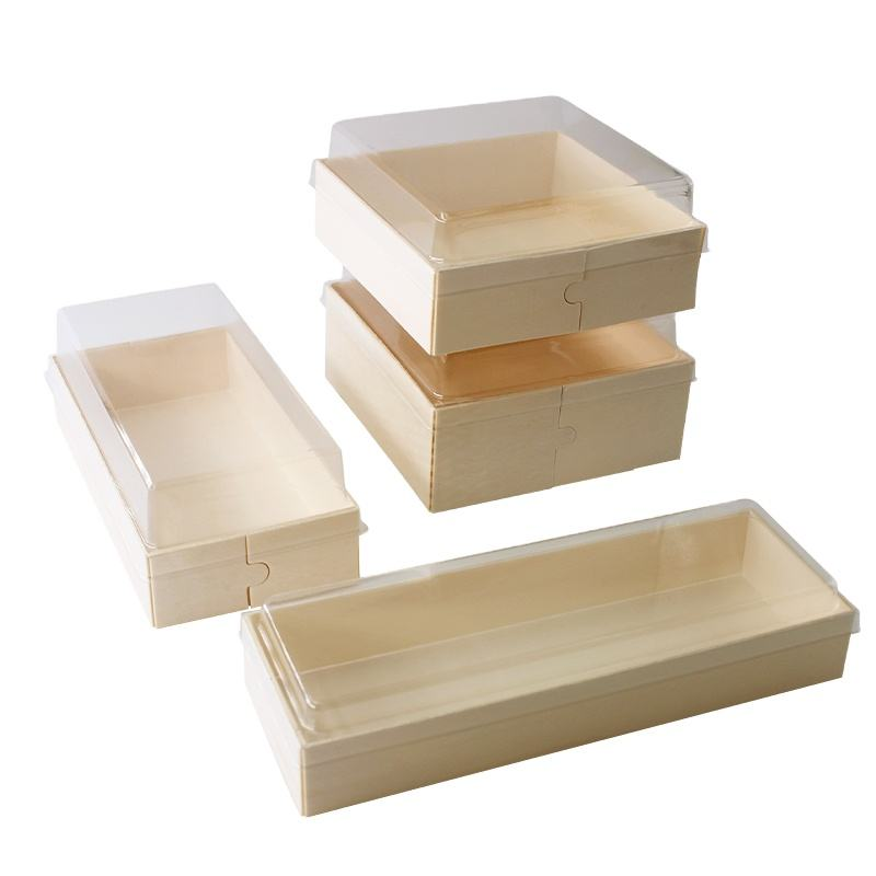 Wholesale Wooden Gift Boxes Bakery Bread Chocolate Mousse Tiramisu Macaron Cake Pastry Packaging Box