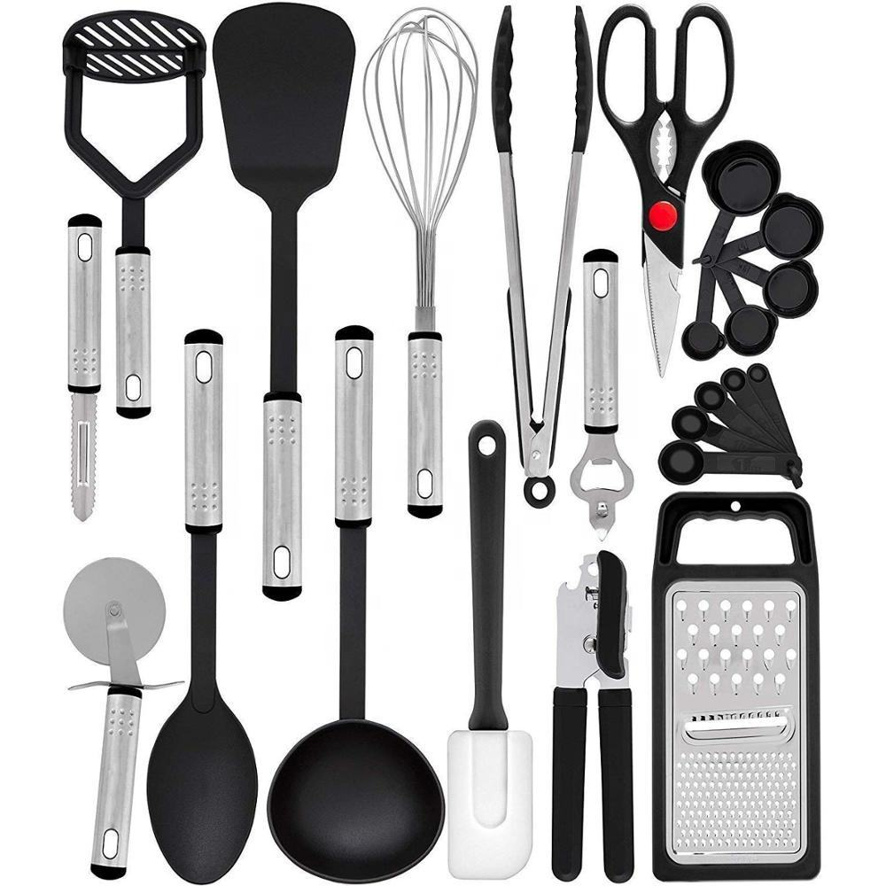 Ready Home Kitchen Accessories 23 Piece Nylon and Stainless Steel Cooking Utensils Kitchen tools Non-Stick Utensils set