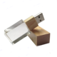 China Suppliers Wooden Usb Flash Drive Acrylic Crystal Usb 2.0 Flash Drive Usb Memory Stick Pen Drive