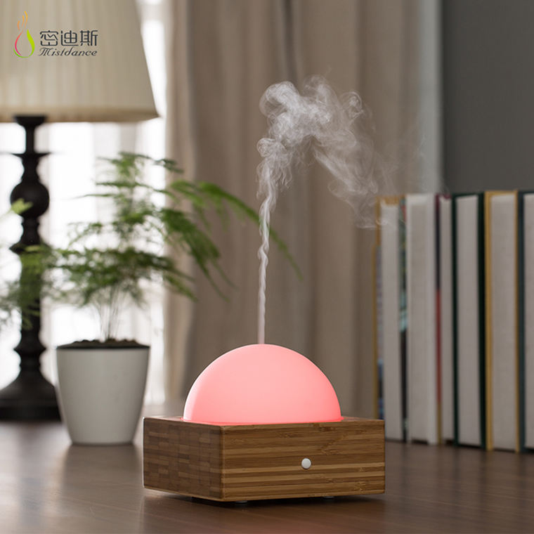5 LED Berubah Aroma Kaca dan Bambu Mesin Steamer Electric Ultrasonic Air Humidifier dengan 120 Ml