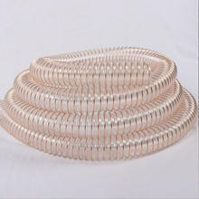 China manufacture TPU flexible duct hose / PU  spiral steel wire reinforced 0.6mm duct hose/steel  wire reinforced delivery pipe