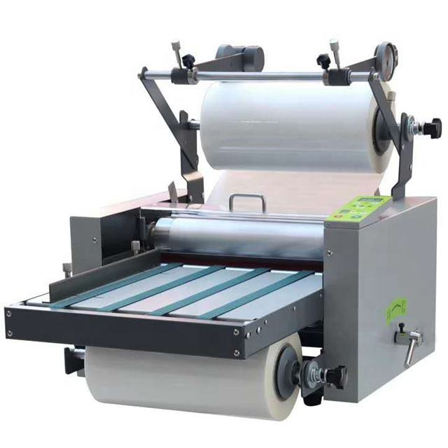 L388 automatic roll to roll roller laminating machine with metal roller paper hot roll laminating machine for printing shop