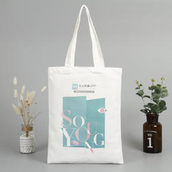 Wholesale new style fashion custom logo cotton canvas tote shopping bag