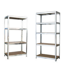 5 Tier Heavy Duty Metal Shelving Unit Boltless Racking Shelves Garage Shelf