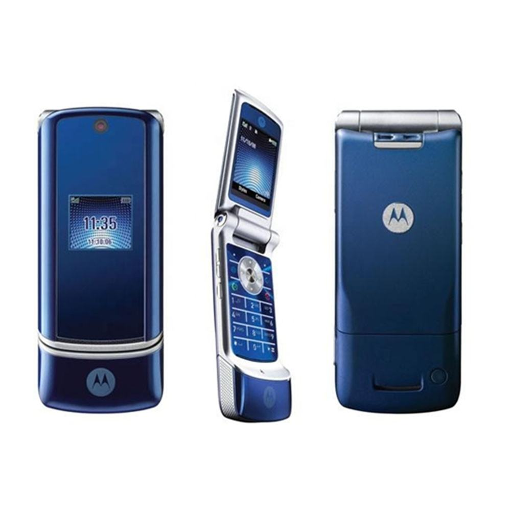 Refurbished Motorola KRZR K1 GSM 2MP Camera Bluetooth Java Cellphone Flip Unlocked Mobile Phone