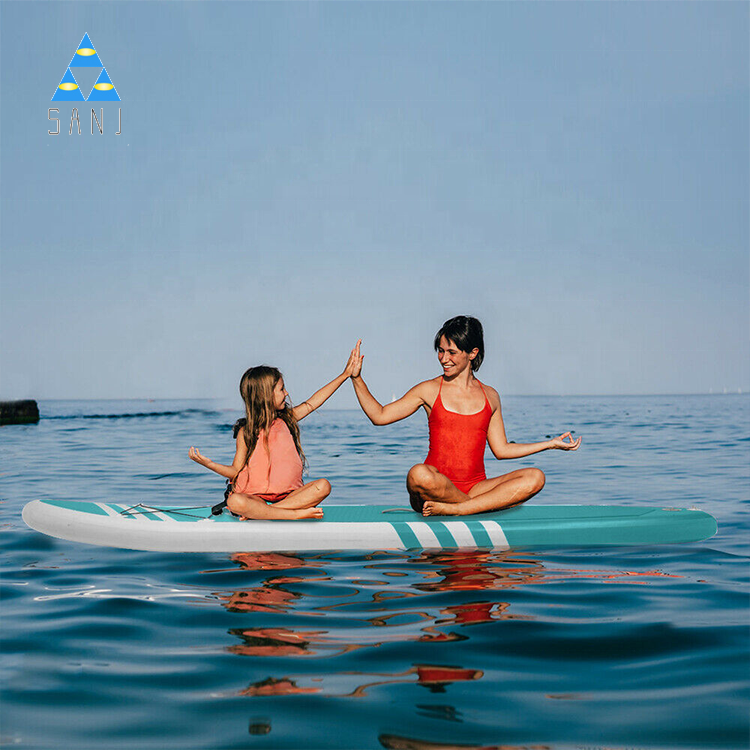 Wholesale Water Sports Tropical Yoga Surf Core Sup Paddle Board With Clear Window