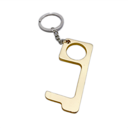 Zinc Alloy Metal Key Edc No Touch Key Chain Door Opener