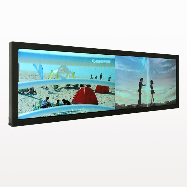 Hot 37.6 Inch Supermarket/Store Ultra Wide Stretched Advertising LCD Display/ads LCD player