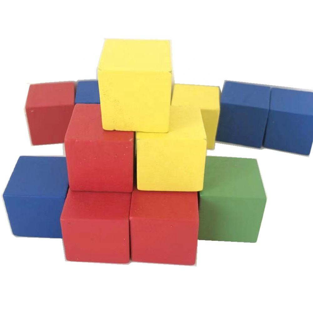 25mm colored wooden cube wood block educational blocks building cubes