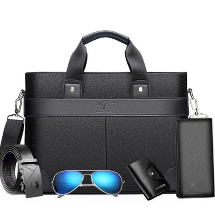 Amazon hot selling high quality wholesale China Manufacturer leather briefcase men