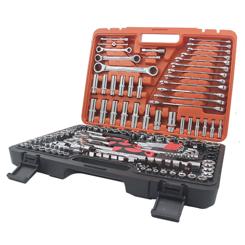 multifunctional 150pcs auto hand 1/4 3/8 1/2 socket wrench set hand tool
