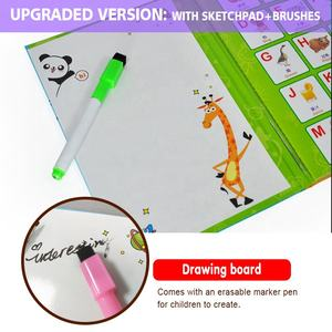 USA CHILDREN MOST POPULAR sensory ABC learning machine alphabet playing games talking pen book baby kids educational toys