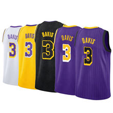 Customized  Design Basketball Shorts Stitched #3 Anthony Davis Basketball Jersey/uniform