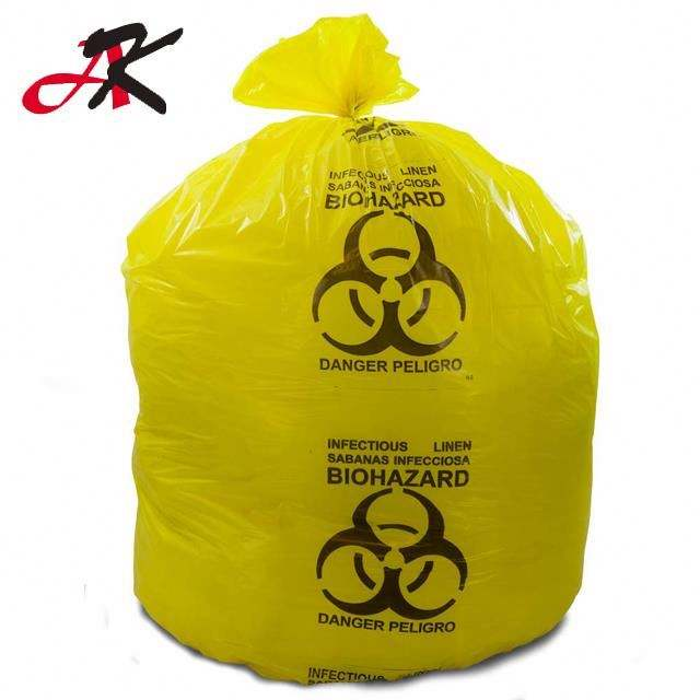 Flat type medical biohazard waste disposal supplies LDPE plastic medical autoclave bags