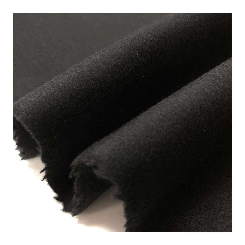 80%wool Double-faced High Quality Fabric For Black Coat Color Customized