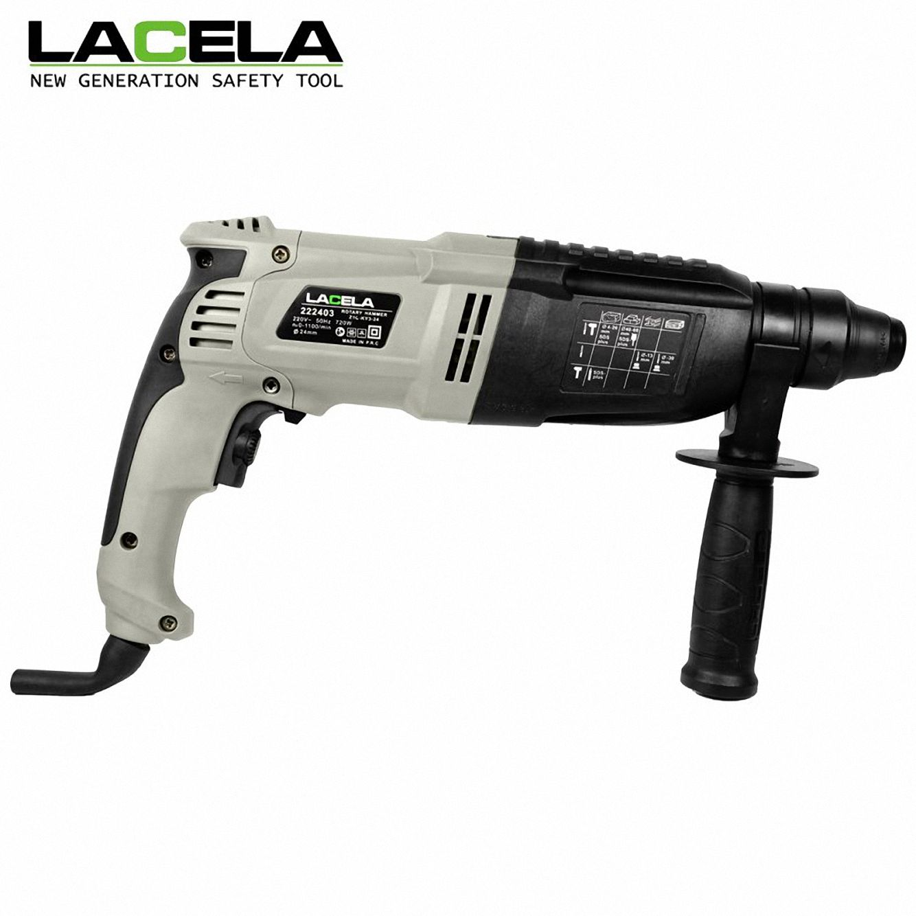 3 Functions Concrete Hammer 24mm Rotary Hammer Dril Machine Variable speed Electric Power Tool
