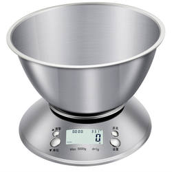 Digital Weighing Kitchen Scale Steel Stainless with Removable Bowl Multifunction Fruit And Milk And Coffee And Cooking Scale