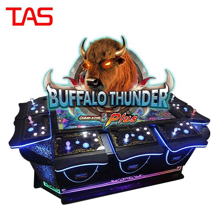Newest Buffalo Thunder 10 Players Machine Ocean King Fish 3 Arcade Games For Sale