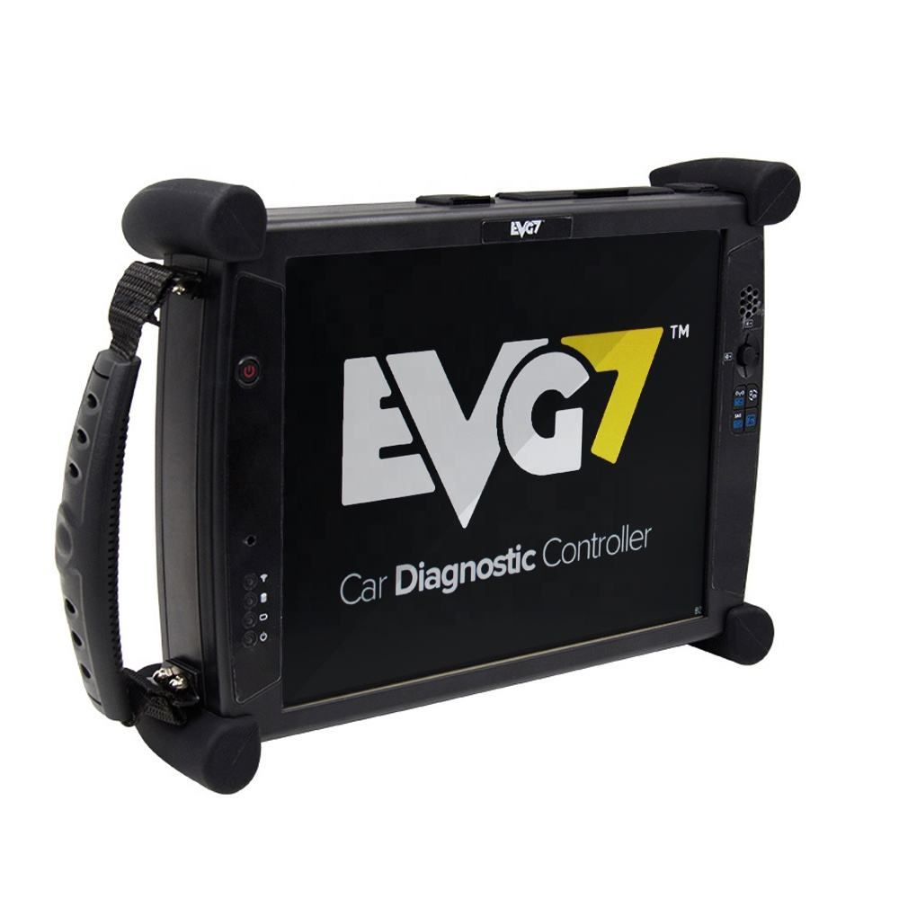 Evg7 dl46 obd2 controlador de diagnóstico, tablet, pc com 500gb hdd 8gb ram, compatível com software v2019.09 para mb sd c4 para bmw next