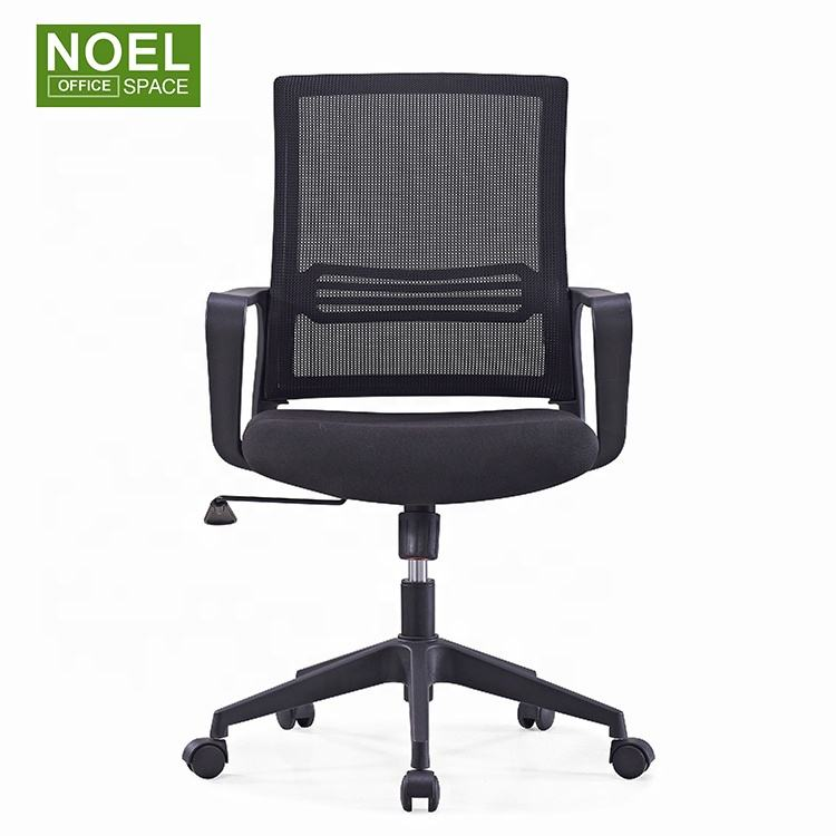 New design noel swivel chair mid back mesh chair components study chair in stock