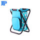 Lightweight outdoor camping cooler bag with portable foldable camping stool folding fishing chair