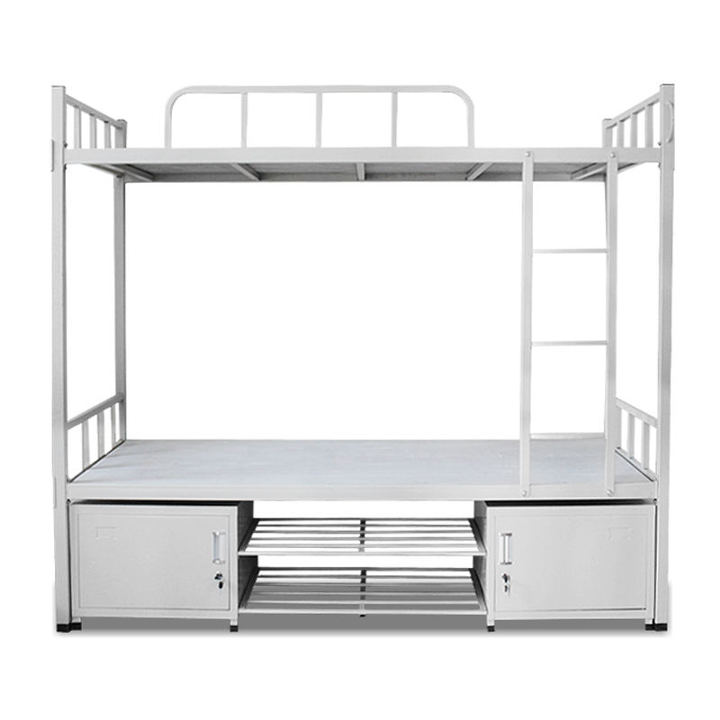 hotsale heavy duty metal frame bunk beds double decker dormitory steel bunk bed for school and hotel