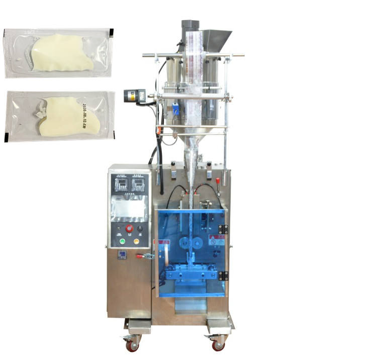 Sauce packaging machine with mixer Mustard Mayonnaise Dressings filler Salad dressing sauce