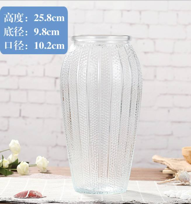 Glass Vase Home Decoration Simple Flower Clear Wholesale Transparent Oem Europe China Style Time