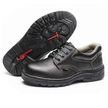 Labor Insurance Leather Rubber Anti-Smashing Anti-Piercing Non-Slip Work Industrial Safety Shoes